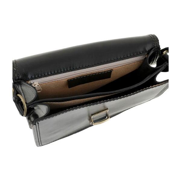 Čierna kožená kabelka Ore Diece Agrigento