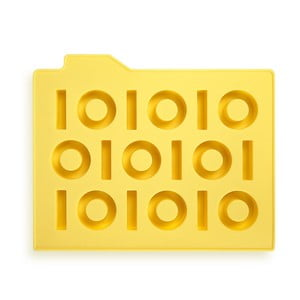 Forma na ľad Binary, žltá