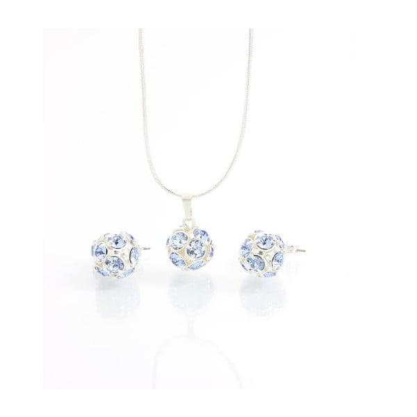 Set náhrdelníka a náušníc Yasmine Blue