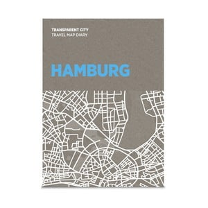 Mapa na poznámky Palomar Transparent City Hamburg