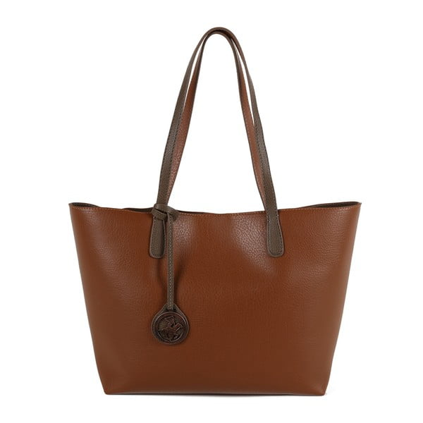 Hnedá kabelka z eko kože Beverly Hills Polo Club Daniela