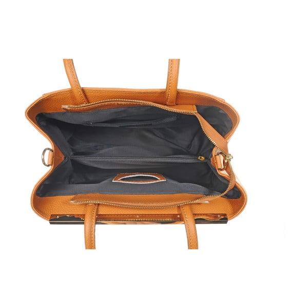 Kožená kabelka Como Orange