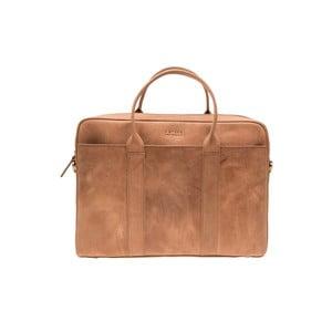 Kožená taška na notebook The Harvey, ťavia