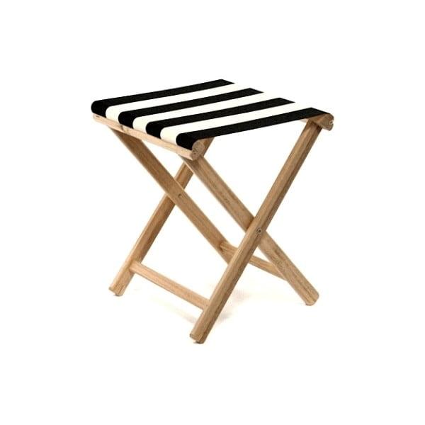 Skladacia stolička Beach, čierne púžky