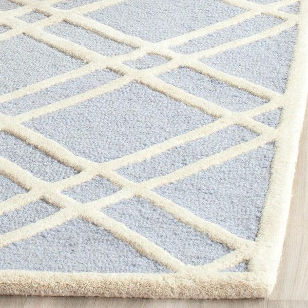 Vlnený koberec Mati 121x182 cm, svetlomodrý