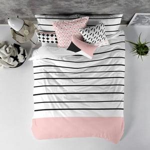 Balvnená obliečka na paplón Blanc Blush, 240×220 cm