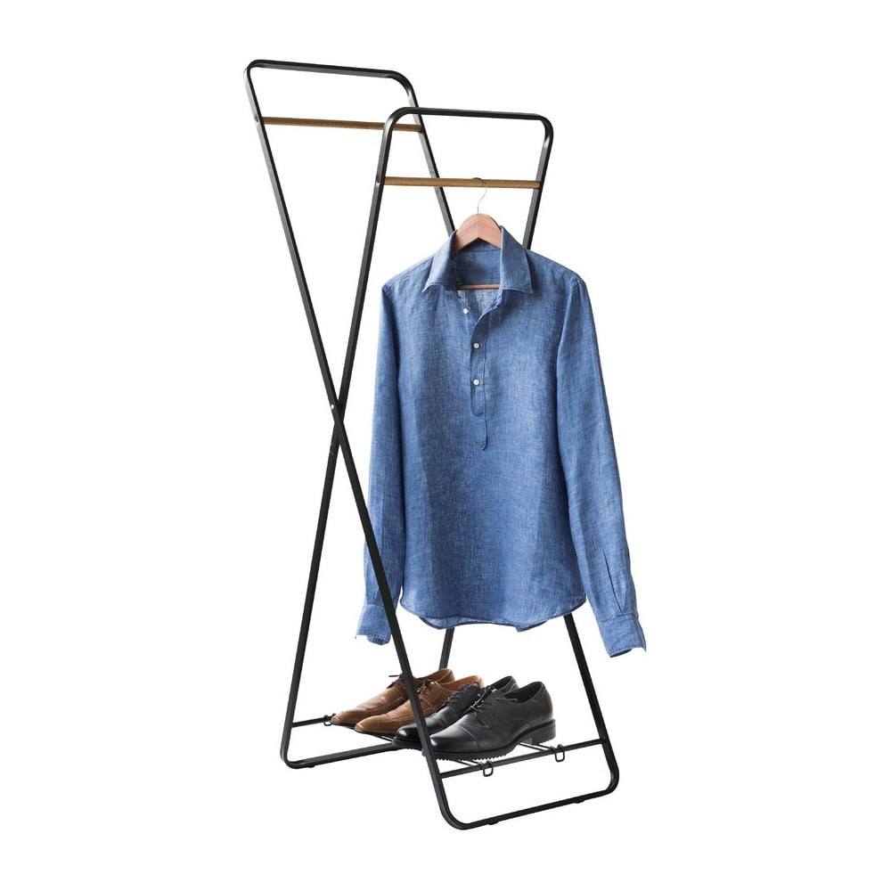 Stojan na oblečenie s poličkou Compactor Noir Shape