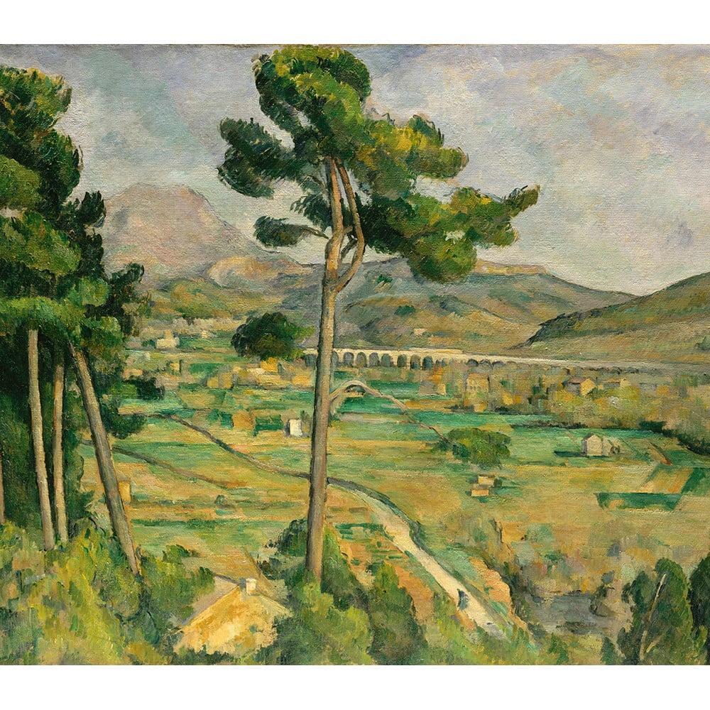 Reprodukcia obrazu Paul Cézanne - Mont Sainte, 80 × 70 cm