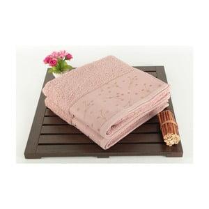 Sada 2 púdrovoružových uterákov Tomur Dusty Rose, 50 x 90 cm