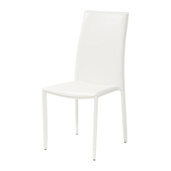 Jedálenská stolička Dedis, biela