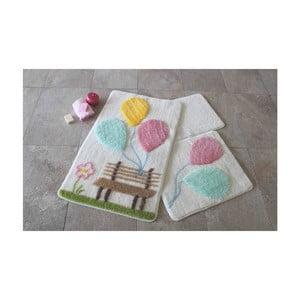 Sada 3 kúpeľňových predložiek Alessia Balon Pink