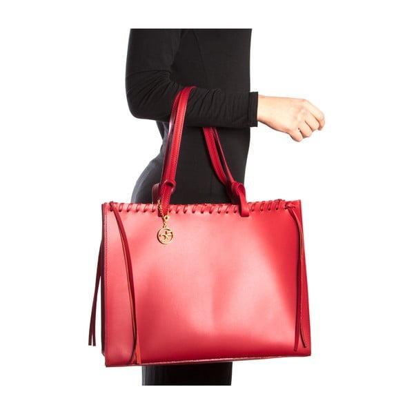 Kožená kabelka Felicia, červená