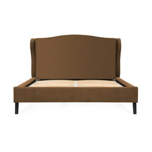Hnedá posteľ z bukového dreva s čiernymi nohami Vivonita Windsor, 180 × 200 cm