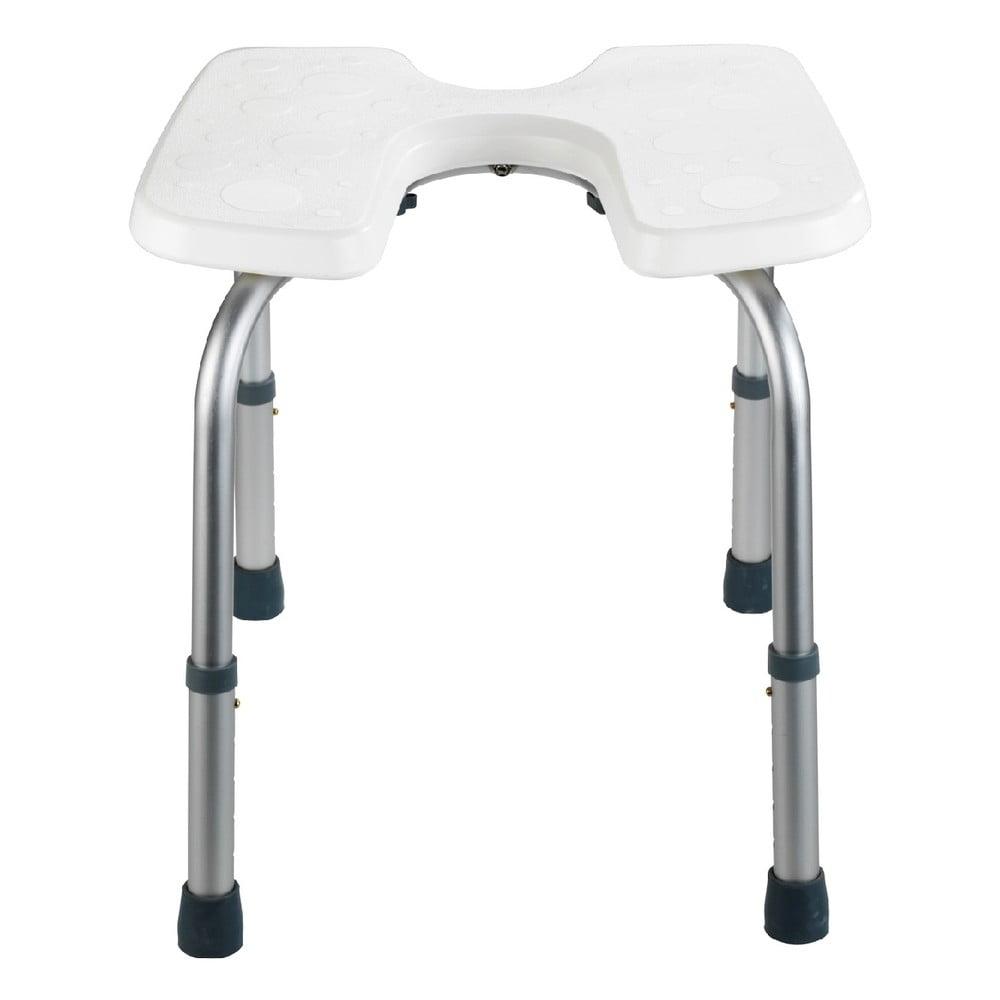 Stolička do sprchy Wenko Hygienic Stool White, 53 × 46 cm