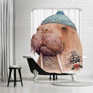 Kúpeľňový záves Tattooed Walrus, 180x180 cm