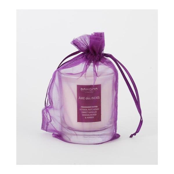 Sviečka v organzovom vrecúšku s exotickou vôňou Bahoma London Ame des Indes, 55 hodín horenia