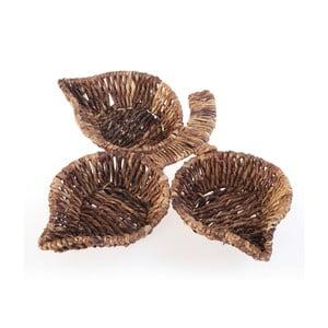 Prútené misky Leaf Snack Brown