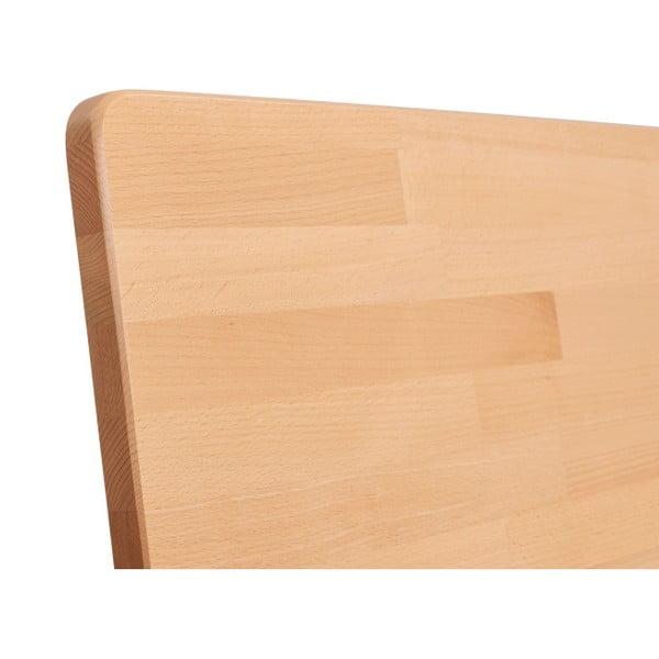 Dvojlôžková posteľ z masívneho bukového dreva SKANDICA Viveca, 200 x 200 cm