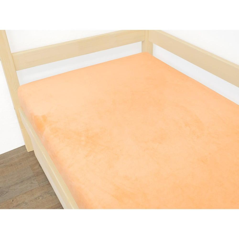 Oranžová plachta z mikroplyšu, 90 x 190 cm
