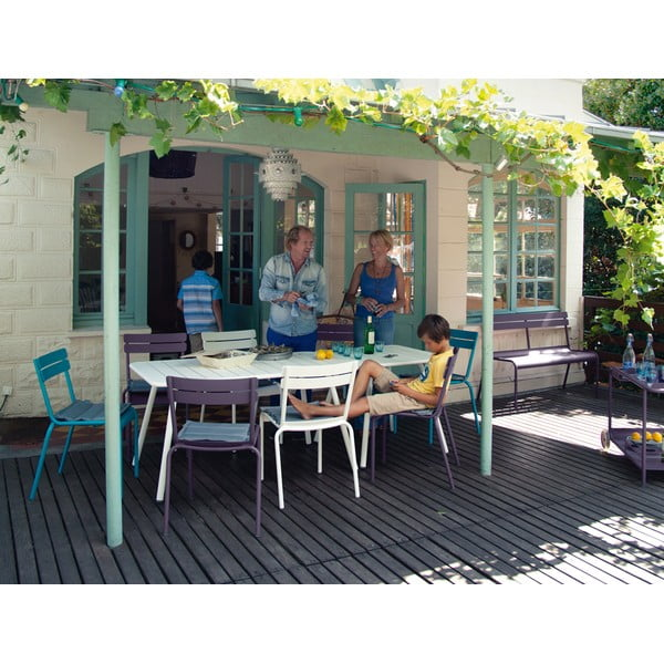 Limetkovozelený kovový jedálenský stôl Fermob Luxembourg