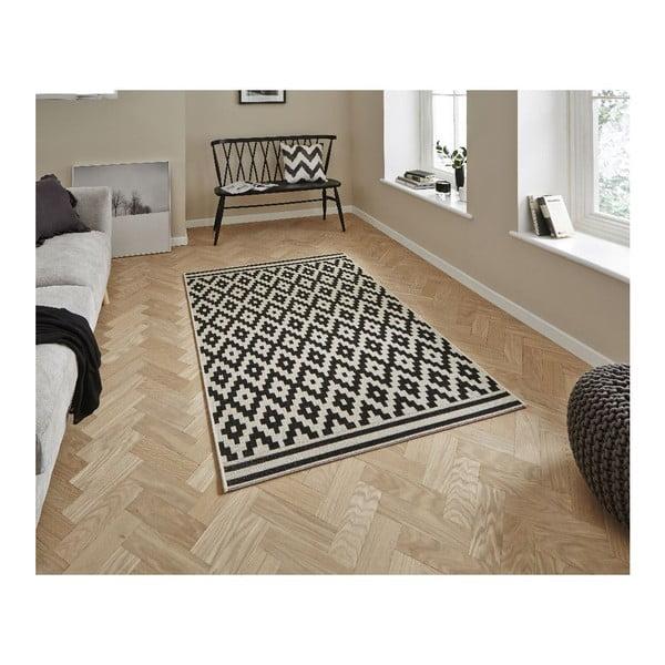 Čierny koberec Think Rugs Cottage,160x220cm