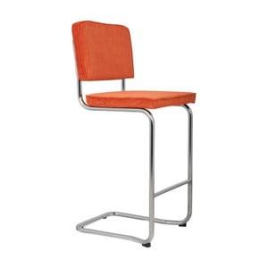Oranžová barová stolička Zuiver Ridge Kink Rib