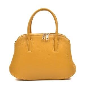 Žltá kožená kabelka Mangotti Marion