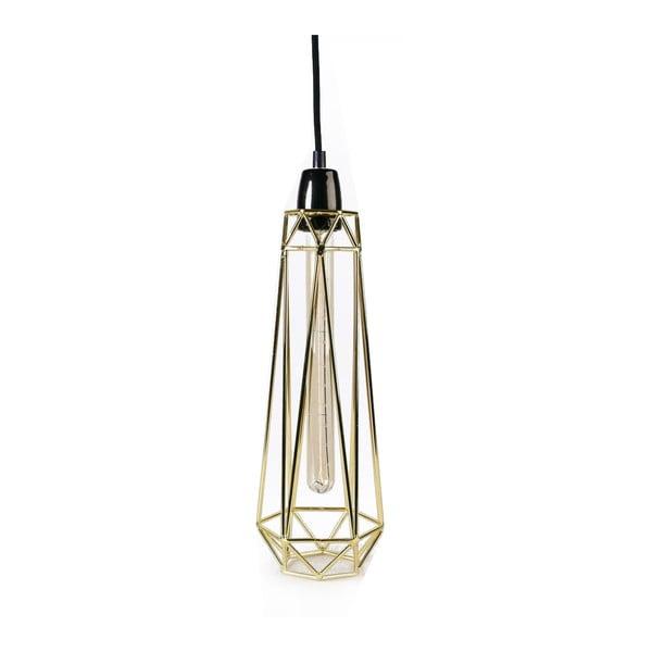 Svetlo so zlatým tienidlom a čiernym káblom Filament Style Diamond #2