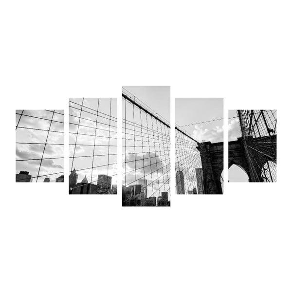 Viacdielny obraz Black&White Bridge