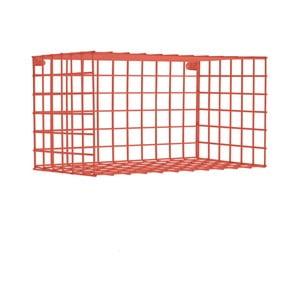 Červená nástenná kovová polica Really Nice Things Horizontal, 30×60 cm