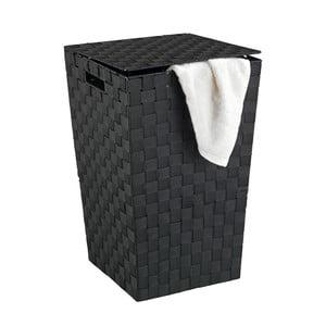Čierny kôš na bielizeň Wenko Adria, 48 l