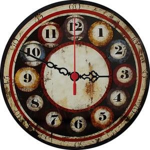 Nástenné hodiny Billiards, 30 cm