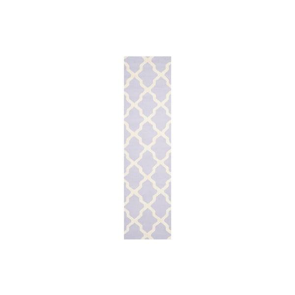 Vlnený koberec Ava 76x243 cm, fialkový