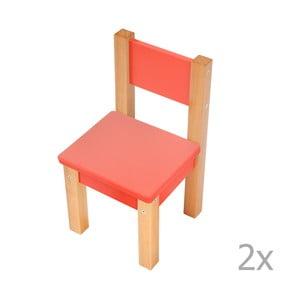 Sada 2 červených detských stoličiek Mobi furniture Mario