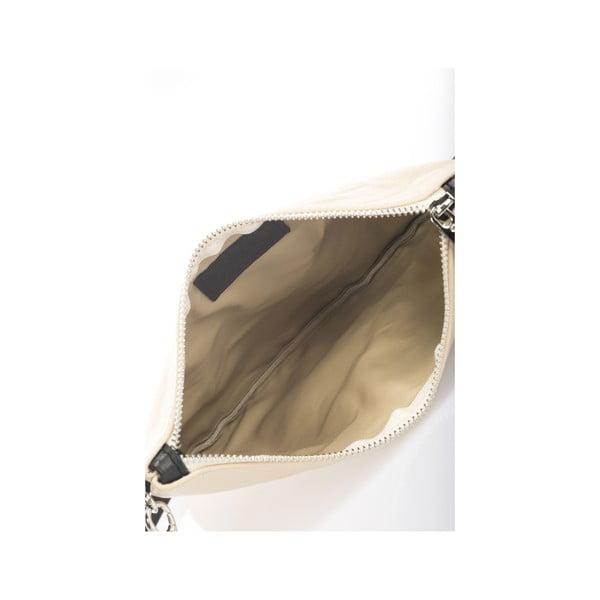 Béžová kožená kabelka Krole Kody