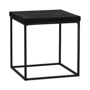 Čierny drevený príručný stolík Folke Lato