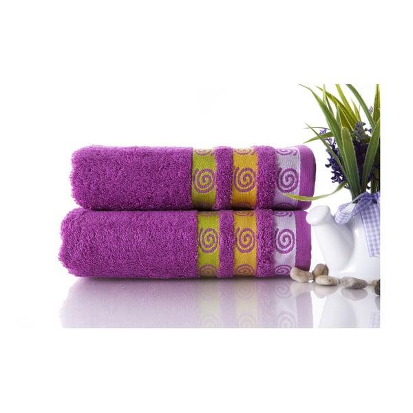 Set dvoch uterákov Truva Lilac, 50x90 cm