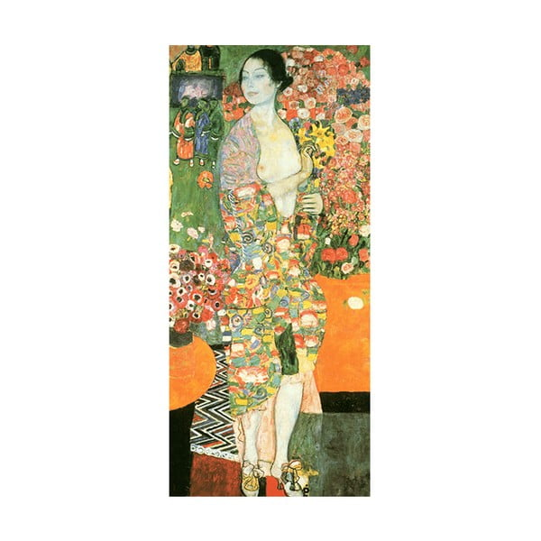 Obraz Gustav Klimt - The Dancer, 90x40 cm