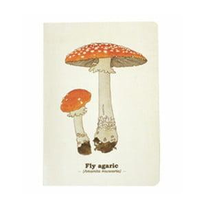 Zápisník Gift Republic Toadstool Mushroom, veľ.A5