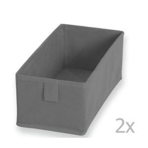 Textilná zásuvka/box Drawer Grey, 13 x 28 cm