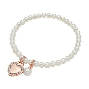 Náramok s bielou perlou ⌀8 mm Perldesse Die, dĺžka 17 cm