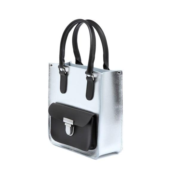 Kožená kabelka Taylor Mini Silver/Chocolate