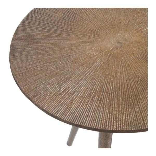 Kovový odkladací stolík Alu, svetlý