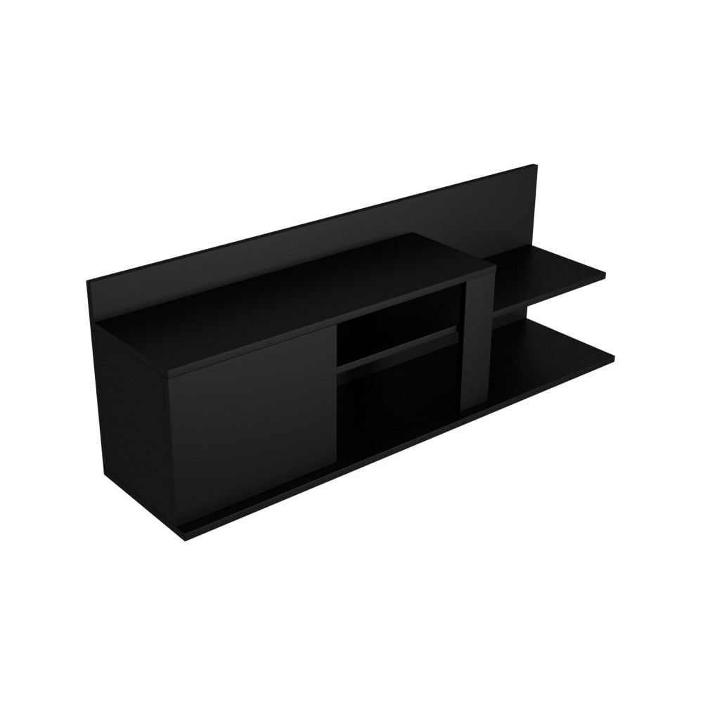 Černý TV stolík Marshall, šírka 120 cm