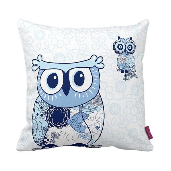 Vankúš Blue Owl, 43x43 cm