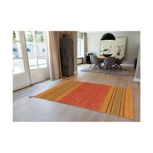 Ručne vyrábaný bavlnený koberec Arte Espina Navarro 2918 Terra, 80 × 150 cm