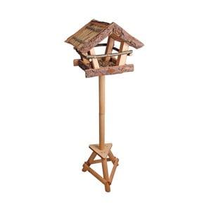 Búdka pre vtáčiky na nohe Esschert Design Raw, výška 111 cm