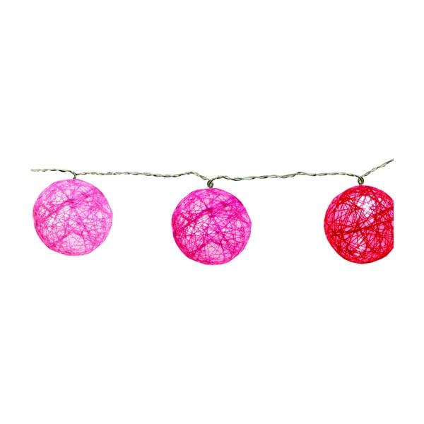 Ružová svetelná LED reťaz Best Season Jolly Lights, 10svetielok