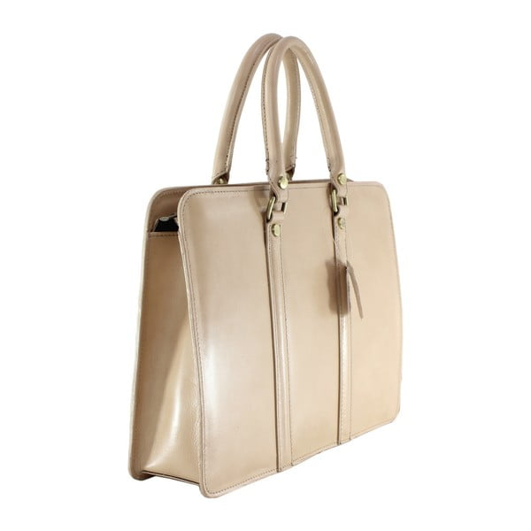 Taupe kožená kabelka Gia