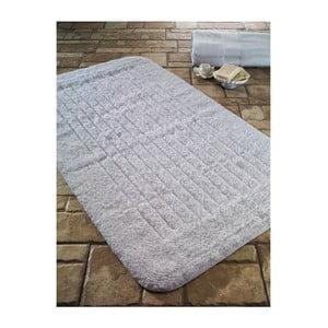 Biela predložka do kúpeľne Confetti Bathmats Cotton Stripe, 60×100cm